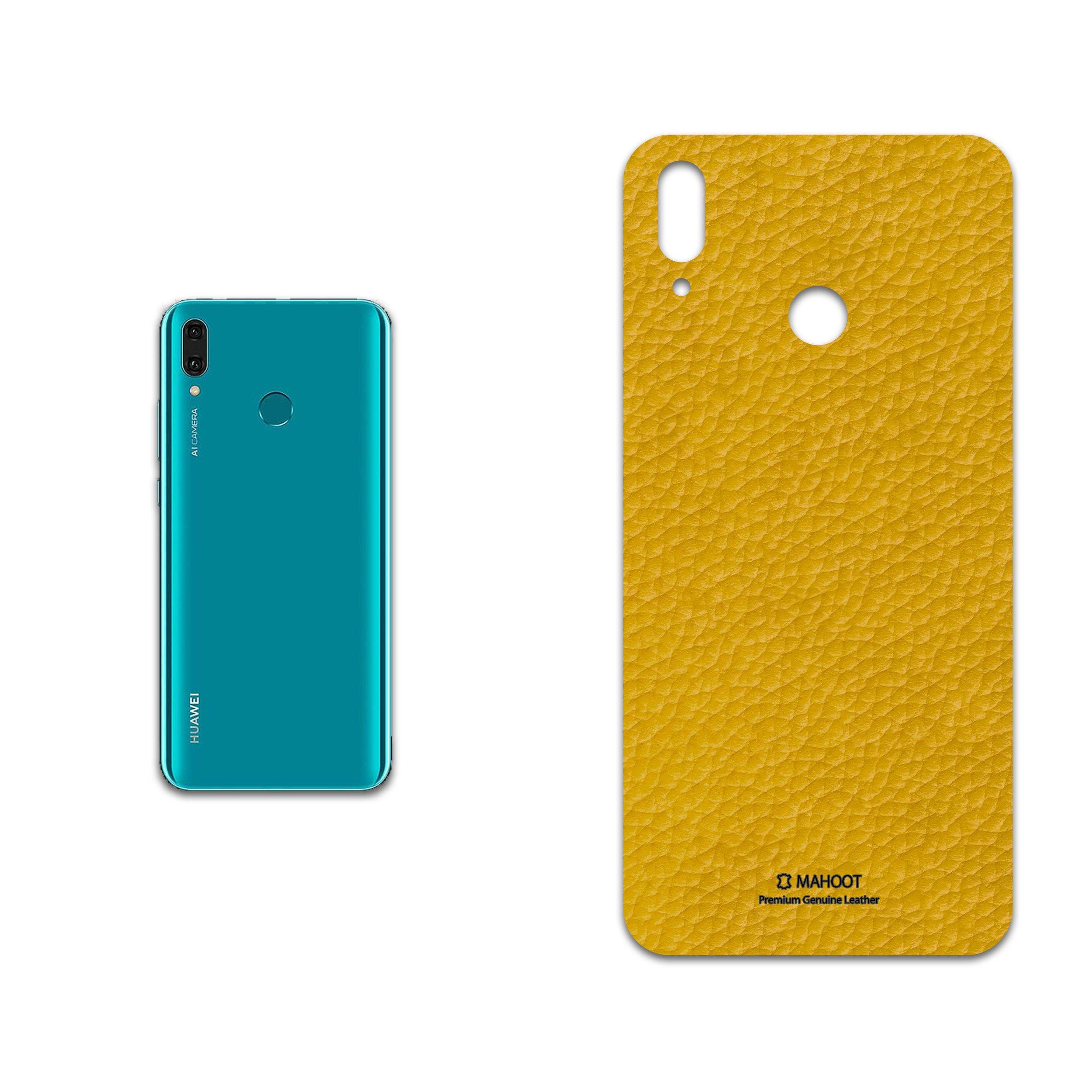 برچسب پوششی ماهوت مدل Mustard-Leather مناسب برای گوشی موبایل هوآوی Y9 2019
