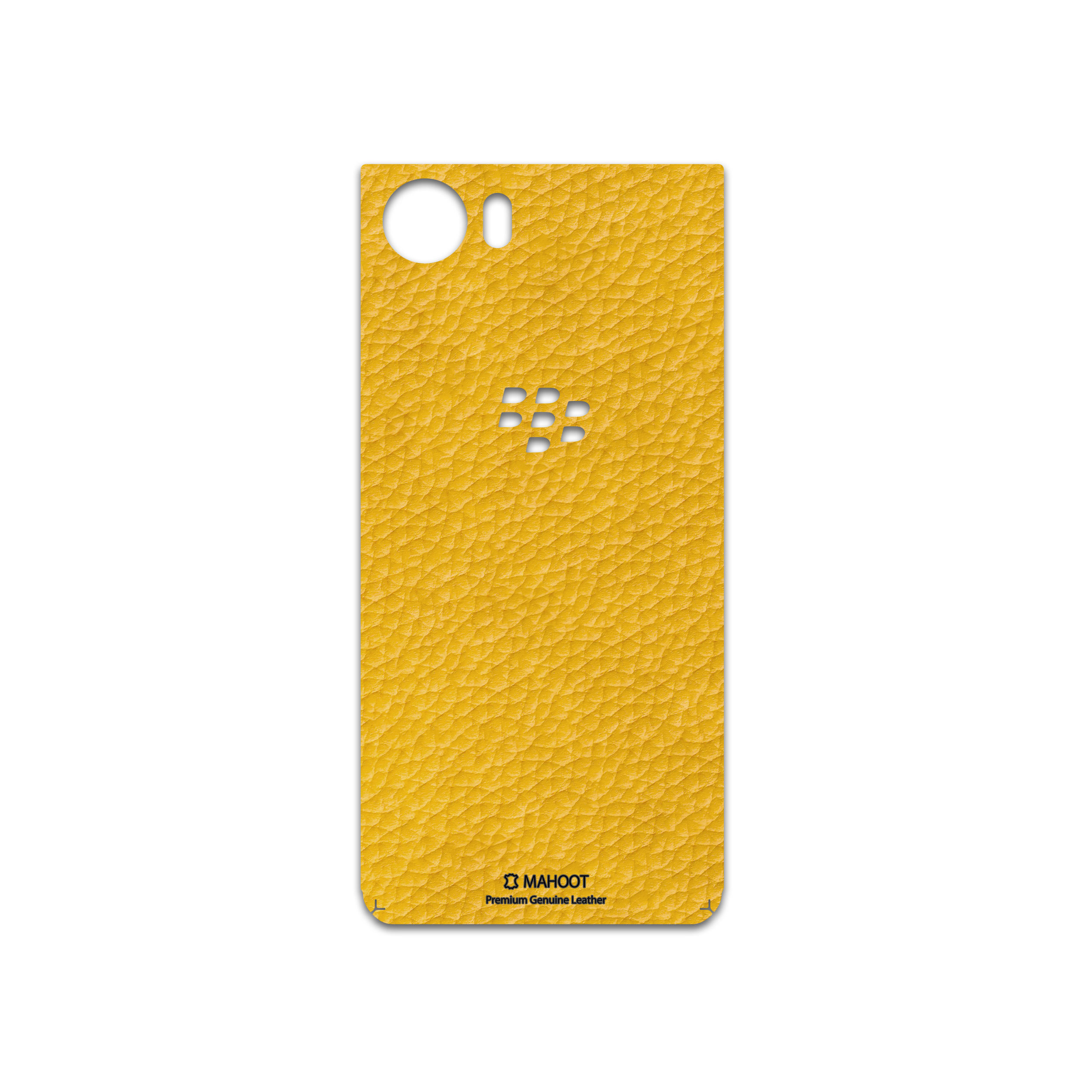 برچسب پوششی ماهوت مدل Mustard-Leather مناسب برای گوشی موبایل بلک بری Keyone-DTEK70