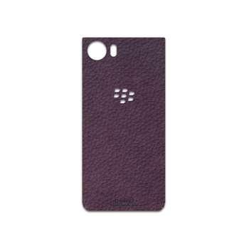 برچسب پوششی ماهوت مدل Purple-Leather مناسب برای گوشی موبایل بلک بری Keyone-DTEK70