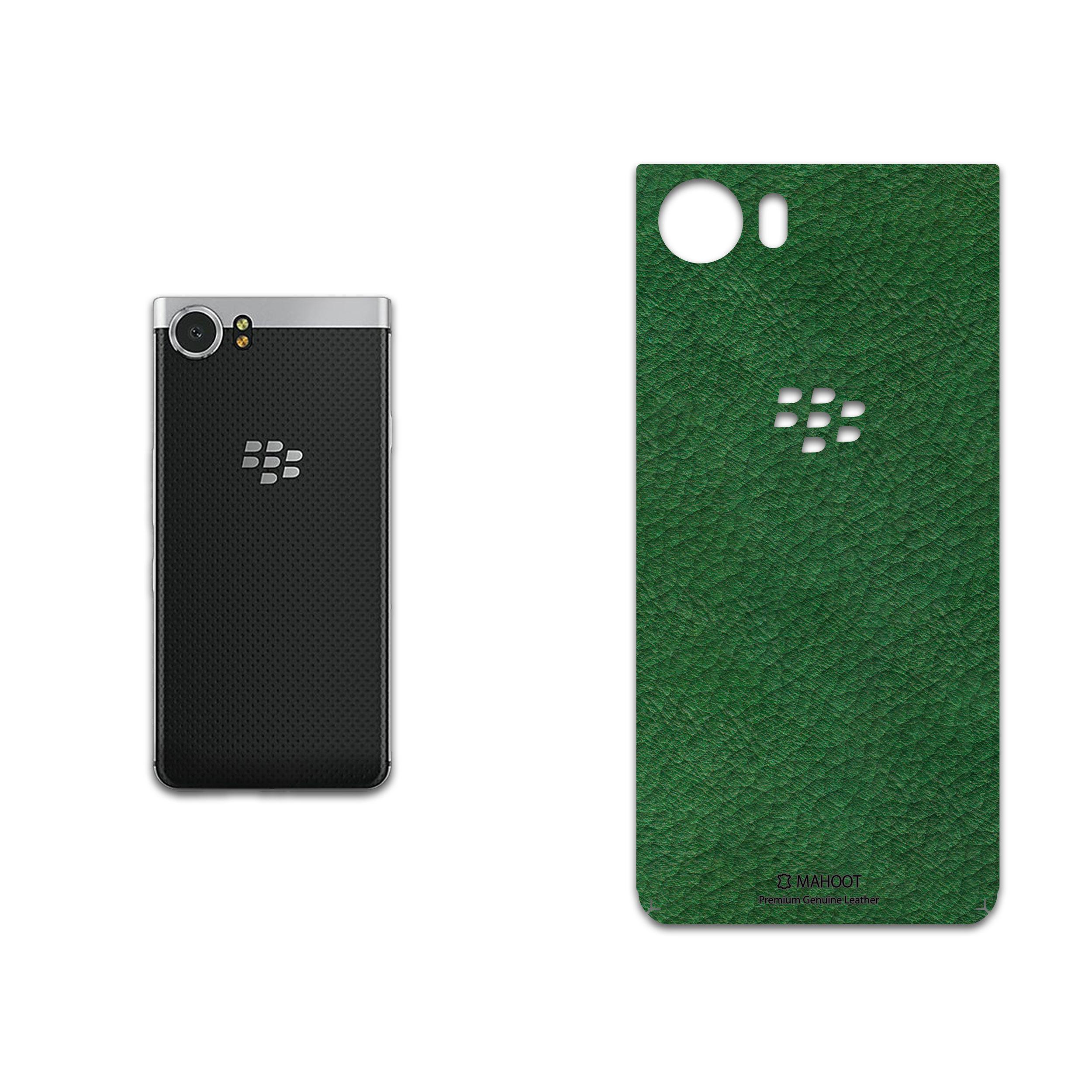 برچسب پوششی ماهوت مدل Green-Leather مناسب برای گوشی موبایل بلک بری Keyone-DTEK70