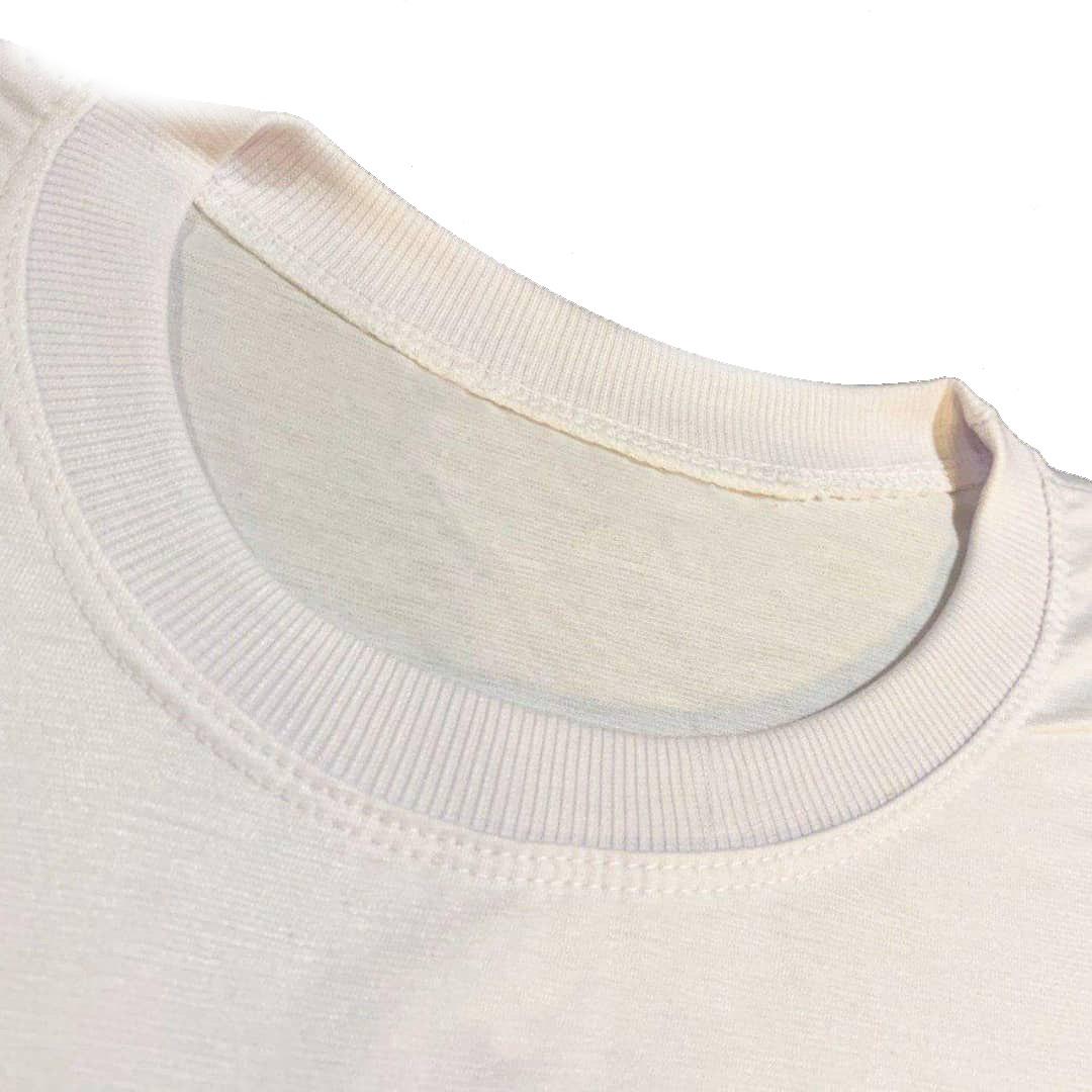 تیشرت آستین کوتاه زنانه کد b7 رنگ سفید