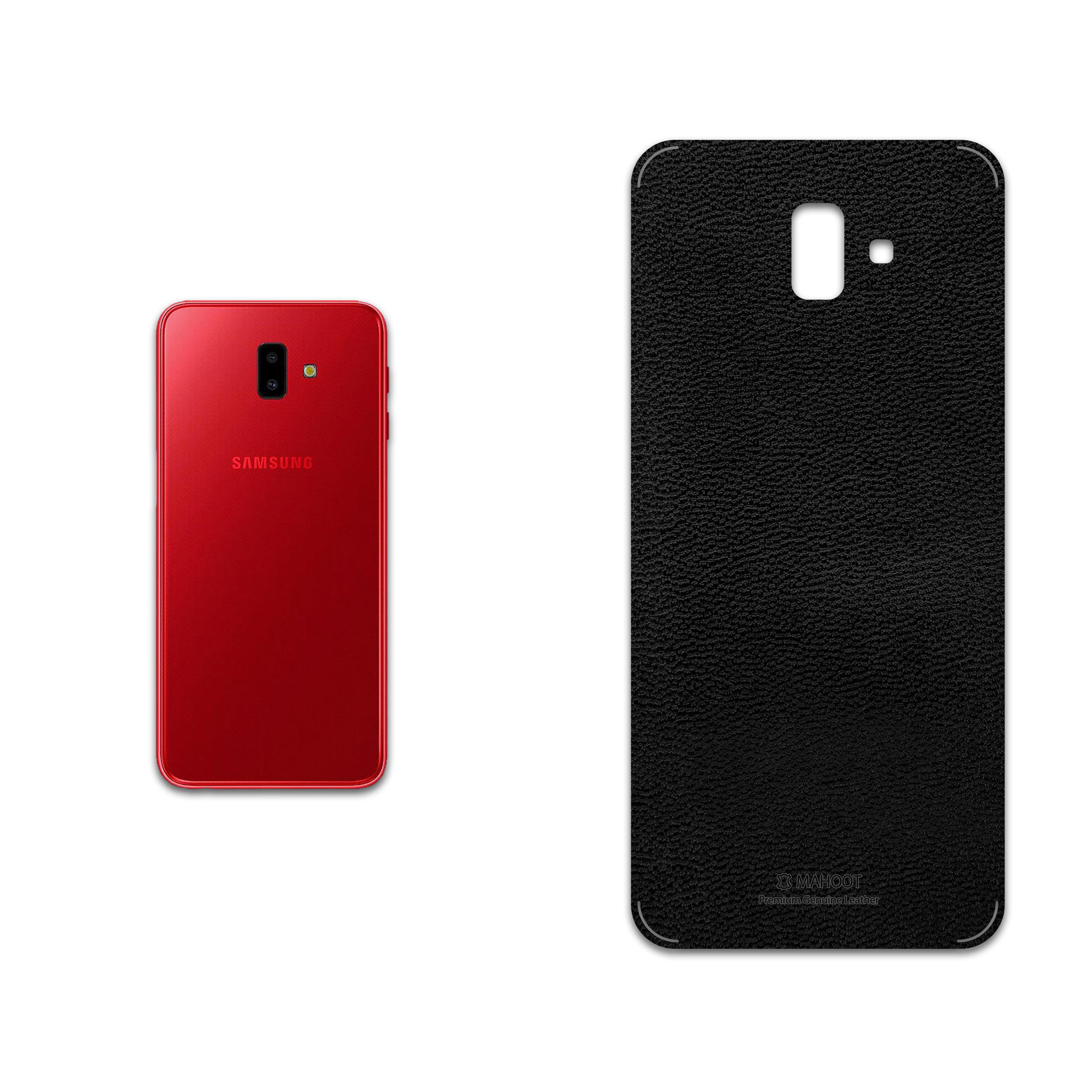 برچسب پوششی ماهوت مدل Black-Leather مناسب برای گوشی موبایل سامسونگ Galaxy J6 Plus
