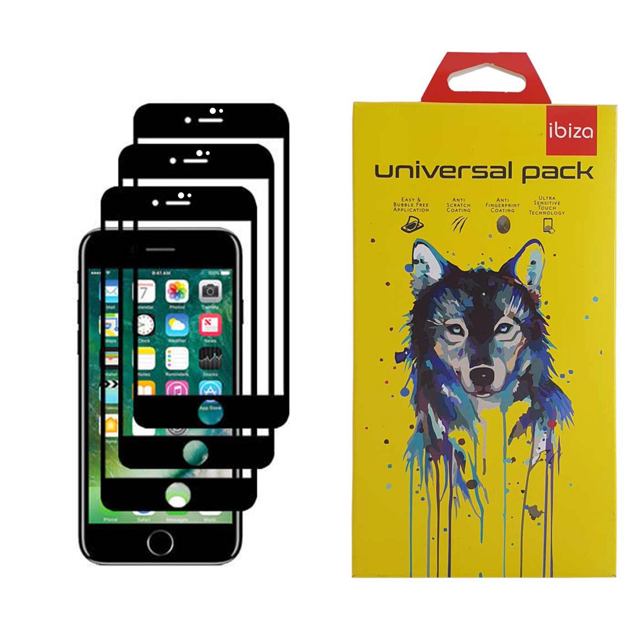 محافظ صفحه نمایش 9D ایبیزا مدل IBI_3 مناسب برای گوشی موبایل اپل Iphone 7 بسته سه عددی