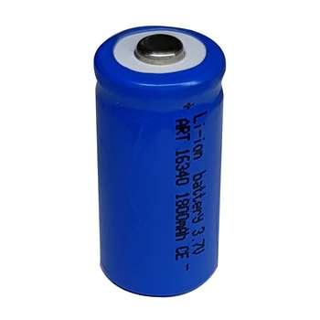 باتری لیتیوم یون قابل شارژ کد 16340 ظرفیت 1800 میلی آمپر ساعت