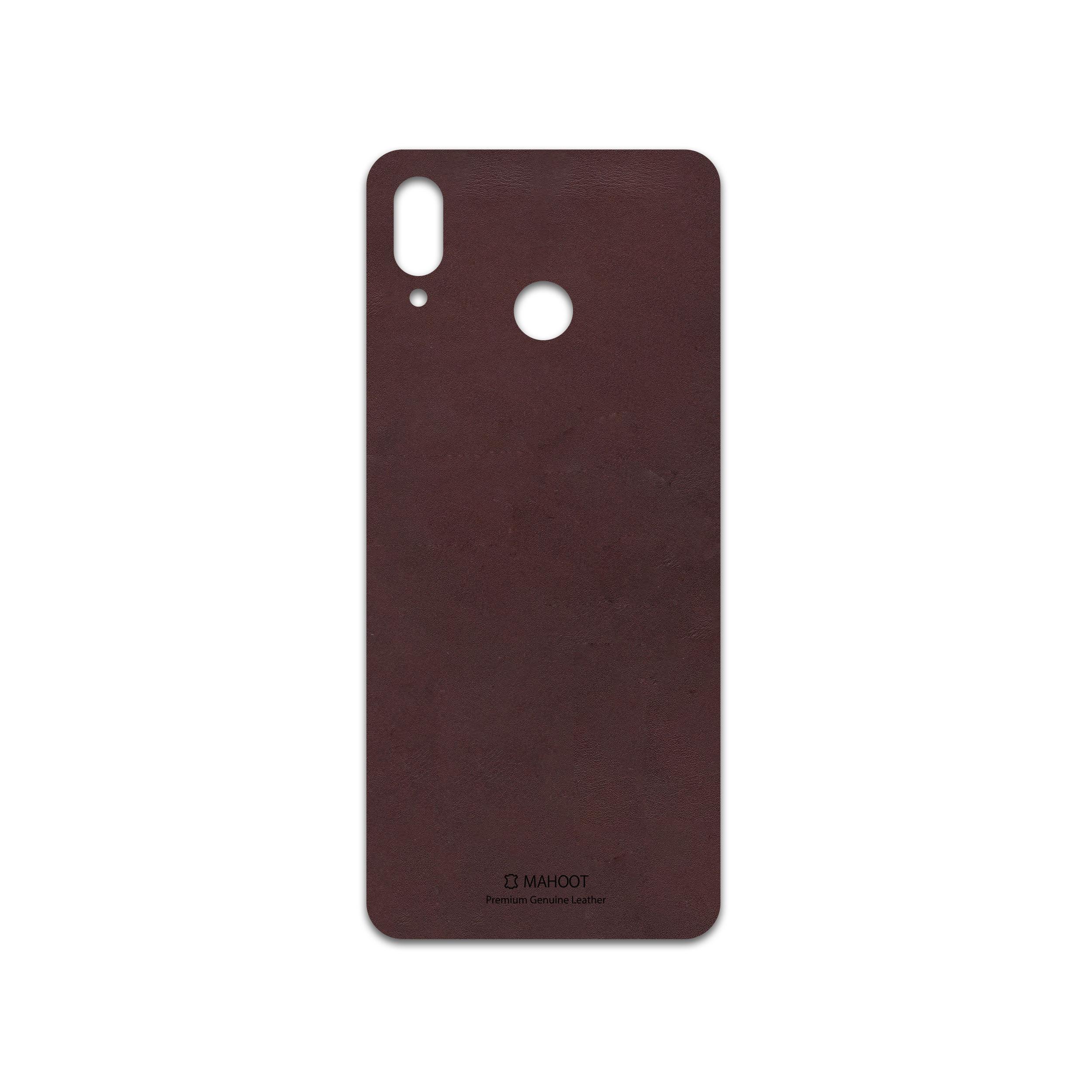 برچسب پوششی ماهوت مدل Matte-Dark-Brown-Leather مناسب برای گوشی موبایل آنر Play