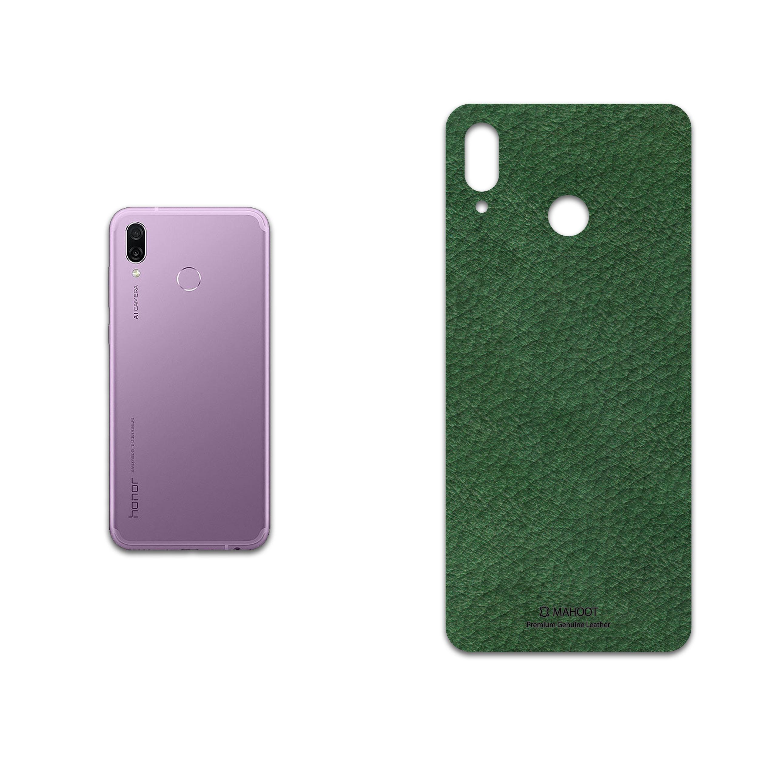 برچسب پوششی ماهوت مدل Green-Leather مناسب برای گوشی موبایل آنر Play
