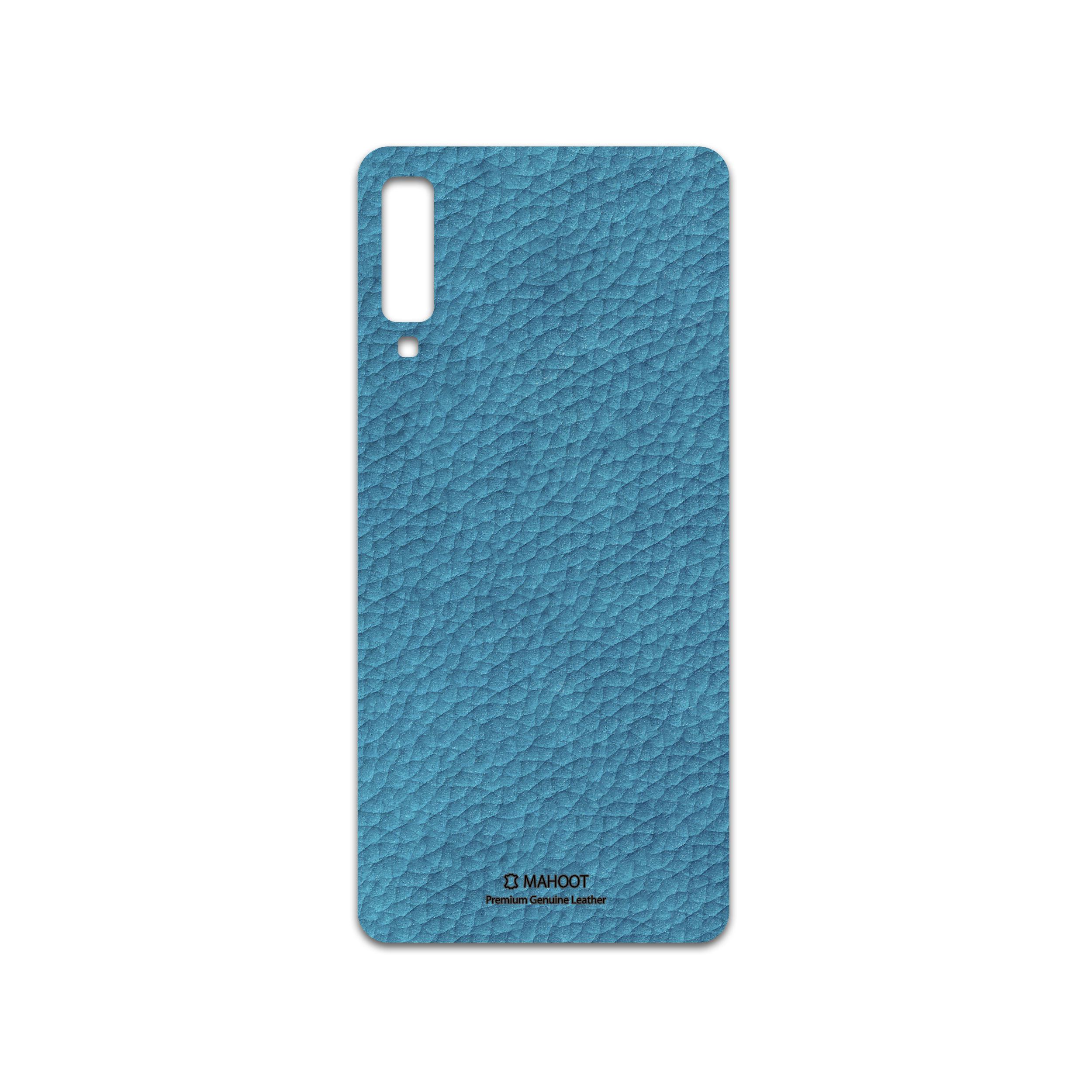 برچسب پوششی ماهوت مدل Blue-Leather مناسب برای گوشی موبایل سامسونگ Galaxy A7 2018