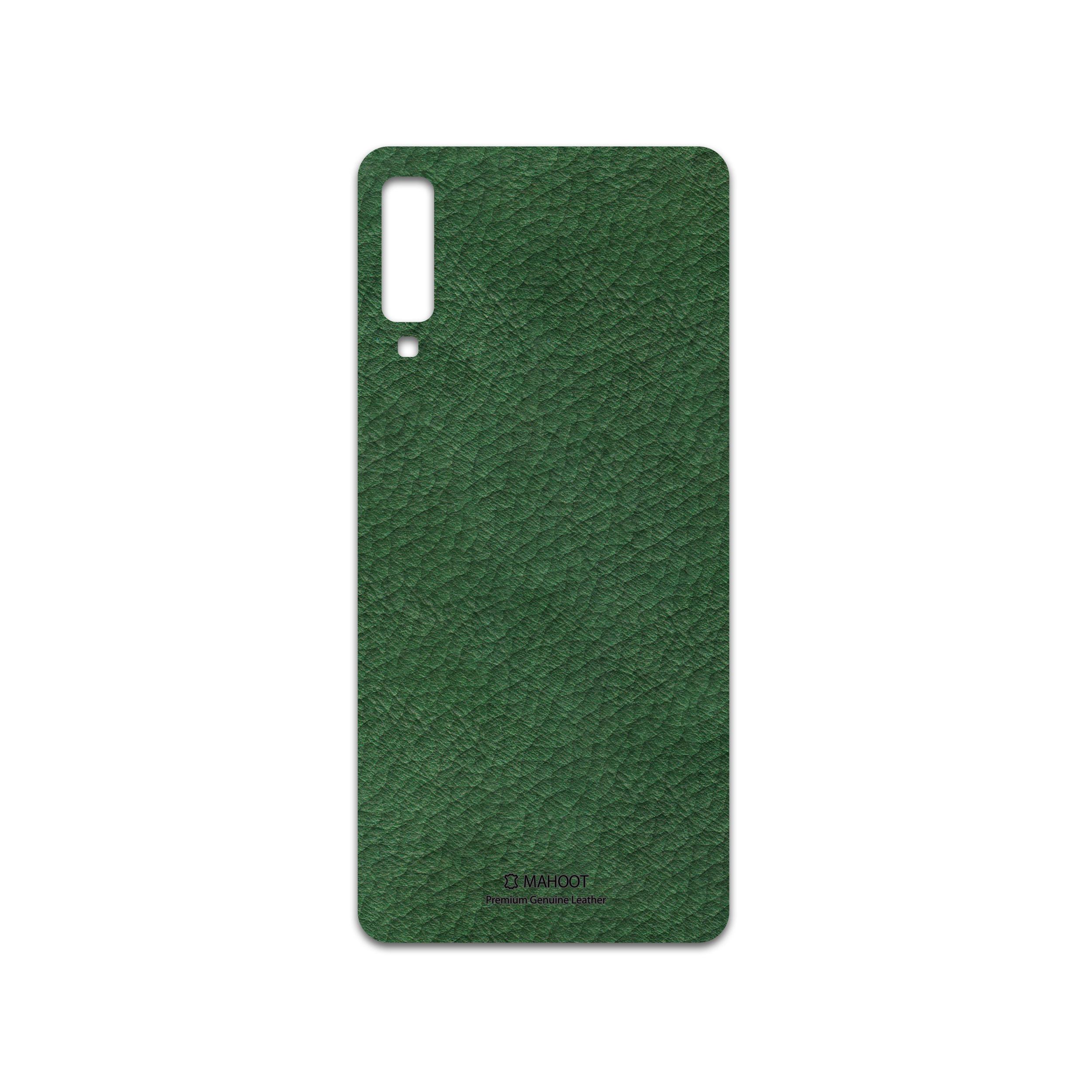 برچسب پوششی ماهوت مدل Green-Leather مناسب برای گوشی موبایل سامسونگ Galaxy A7 2018