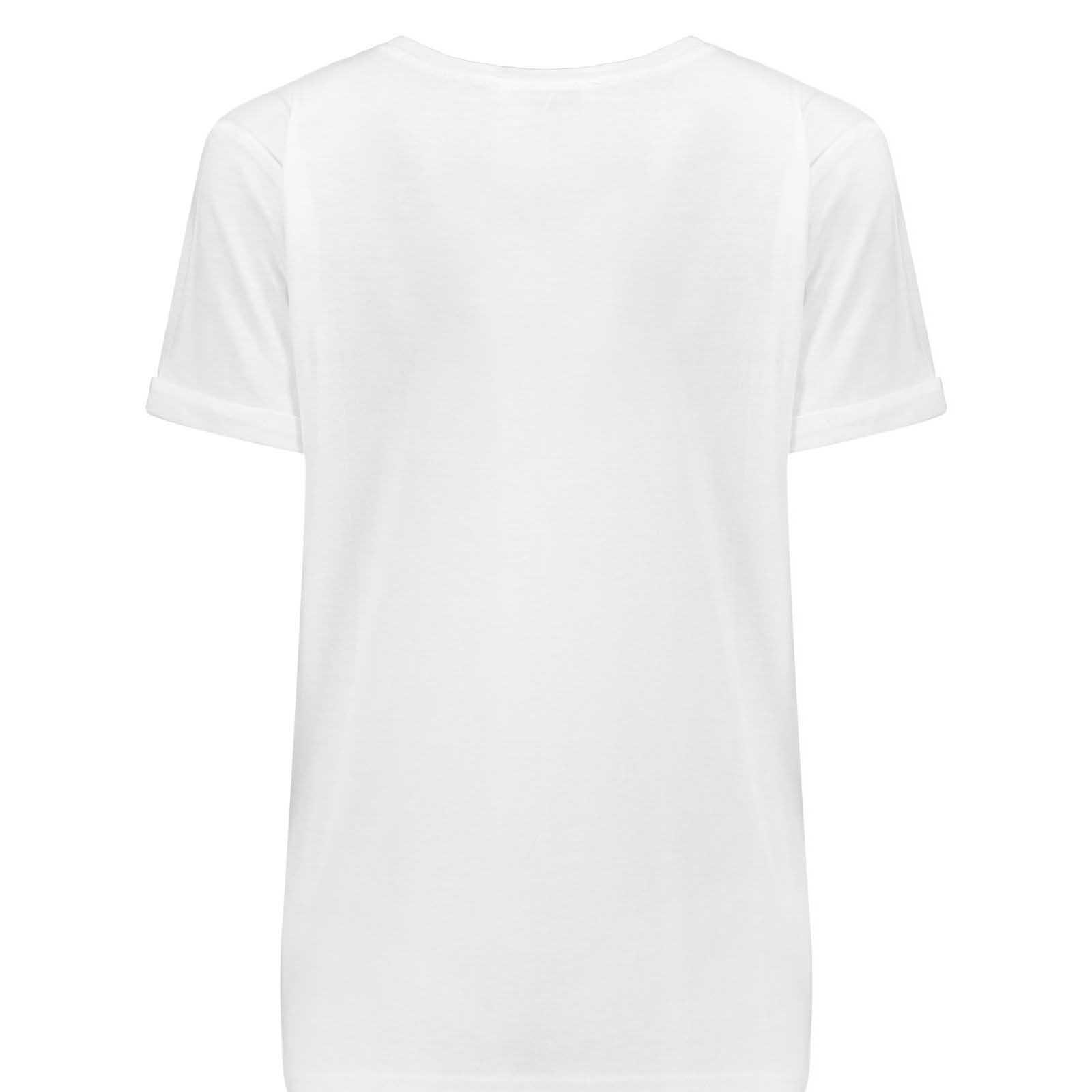 تیشرت آستین کوتاه زنانه کد b18 رنگ سفید