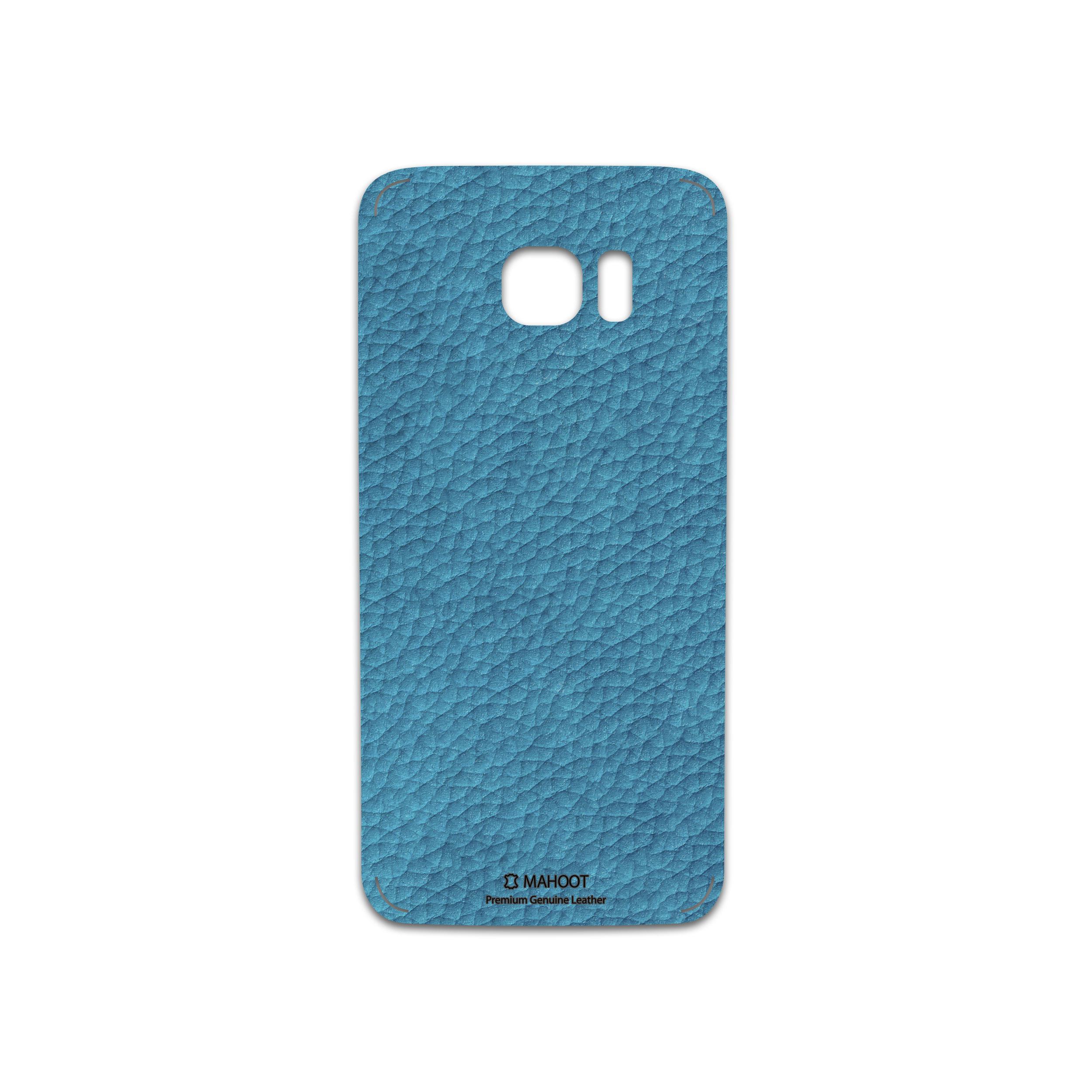 برچسب پوششی ماهوت مدل Blue-Leather مناسب برای گوشی موبایل سامسونگ Galaxy S7 Edge