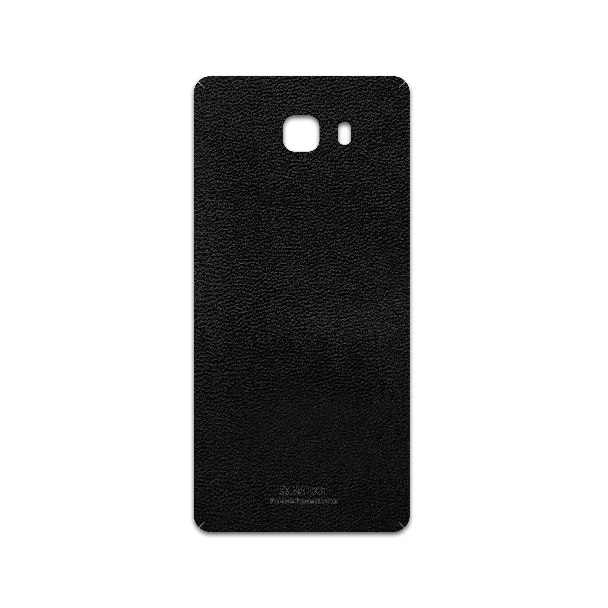 برچسب پوششی ماهوت مدل Black-Leather مناسب برای گوشی موبایل سامسونگ Galaxy C9 Pro