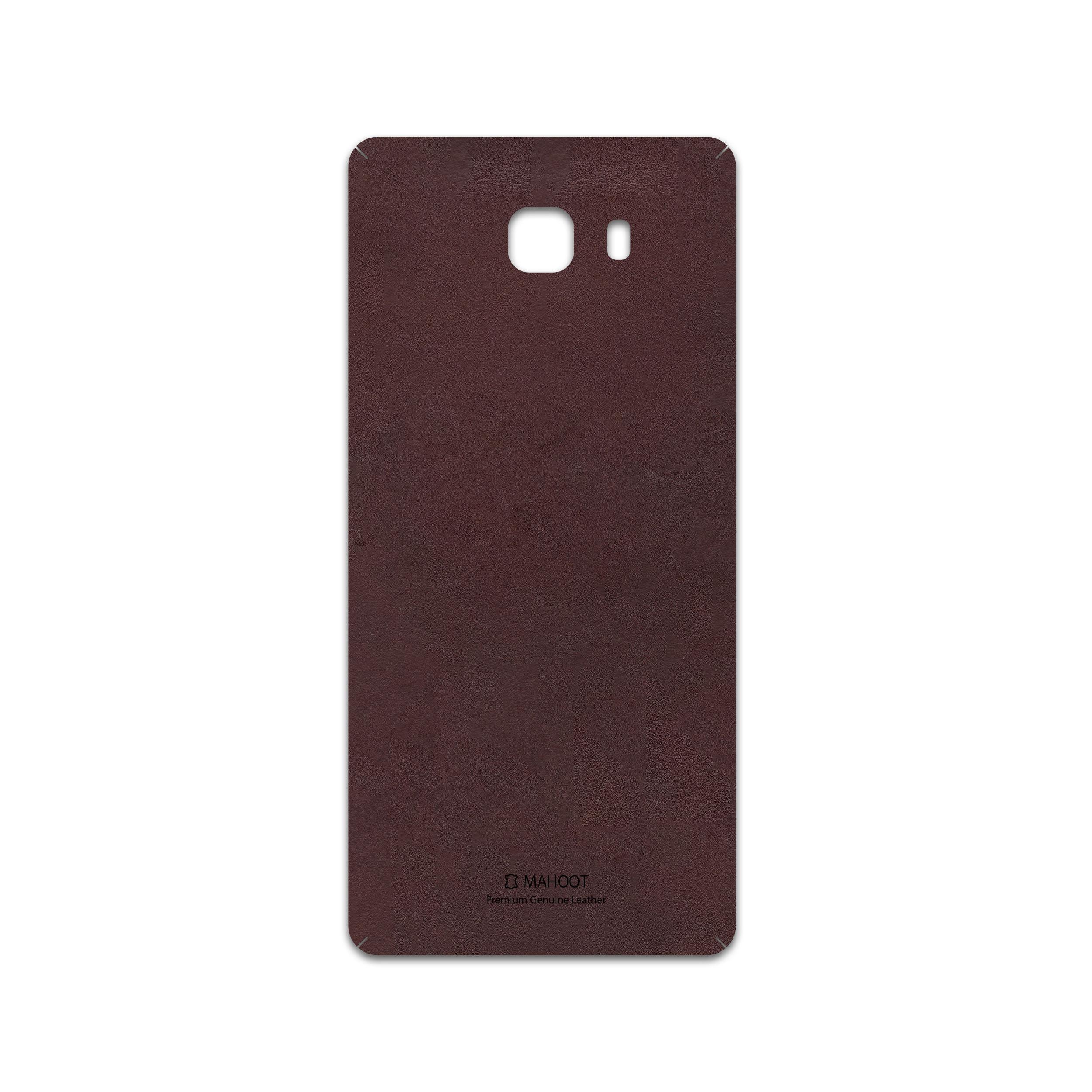 برچسب پوششی ماهوت مدل Matte-Dark-Brown-Leather مناسب برای گوشی موبایل سامسونگ Galaxy C9 Pro