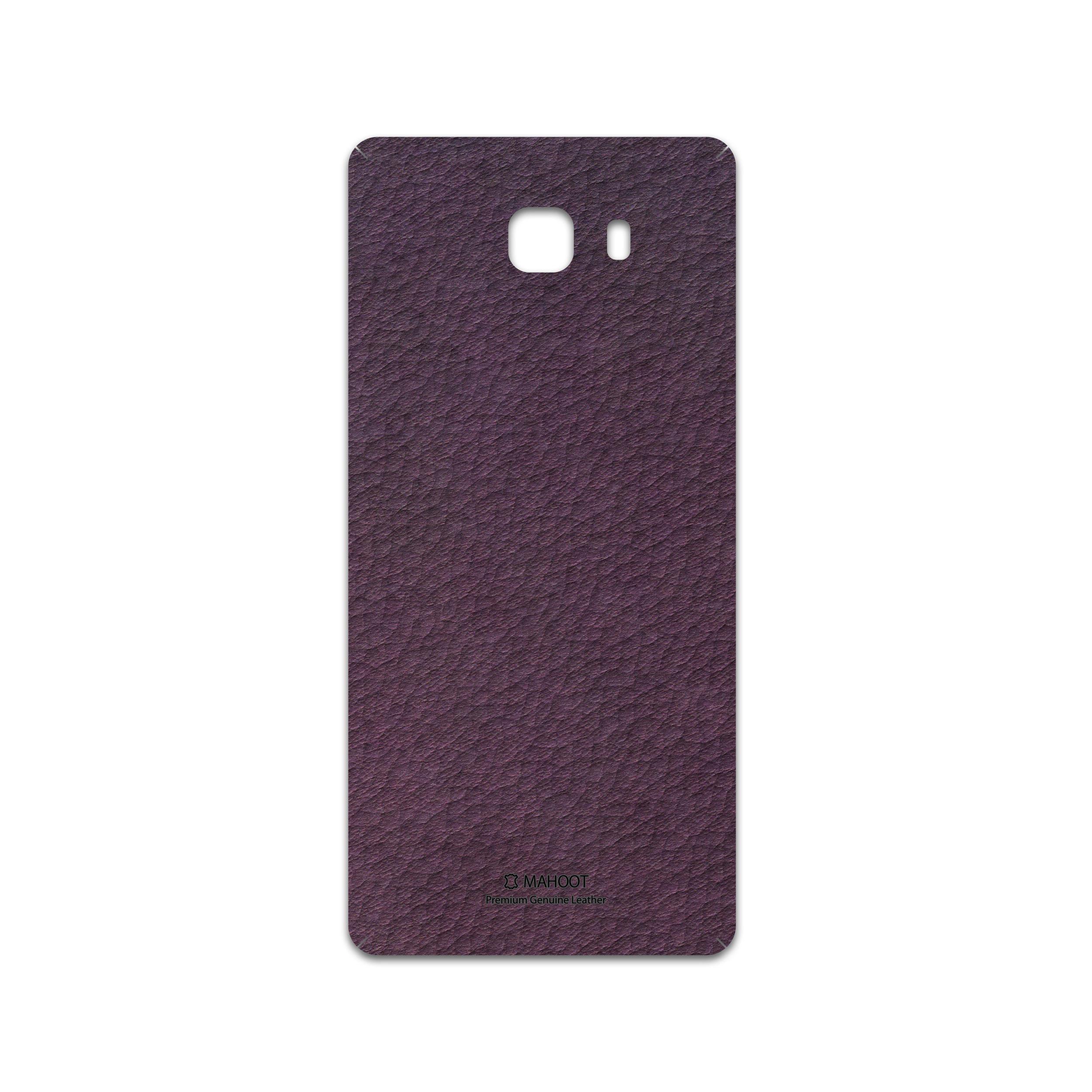 برچسب پوششی ماهوت مدل Purple-Leather مناسب برای گوشی موبایل سامسونگ Galaxy C9 Pro