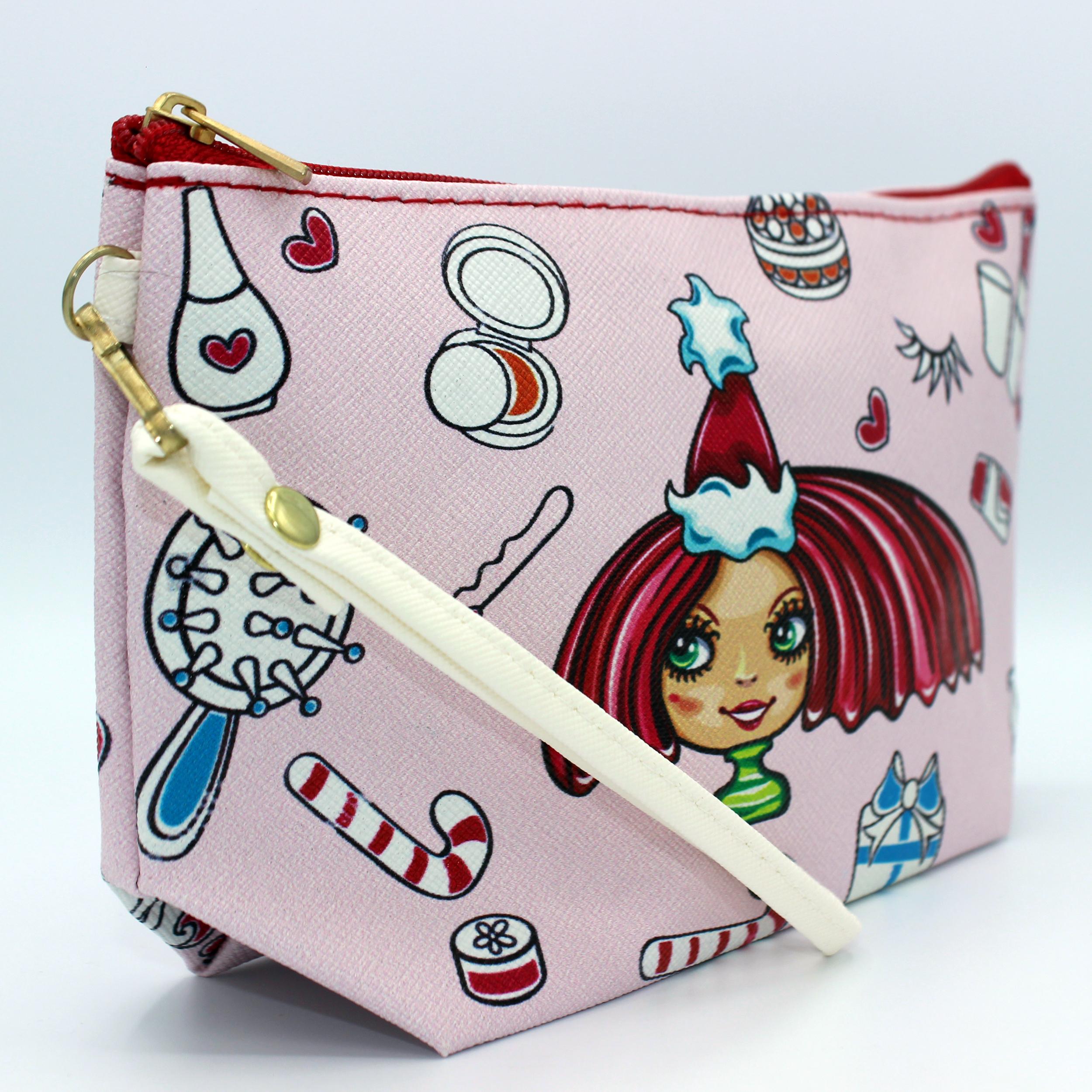 کیف لوازم آرایش طرح دختر کد IDM 192
