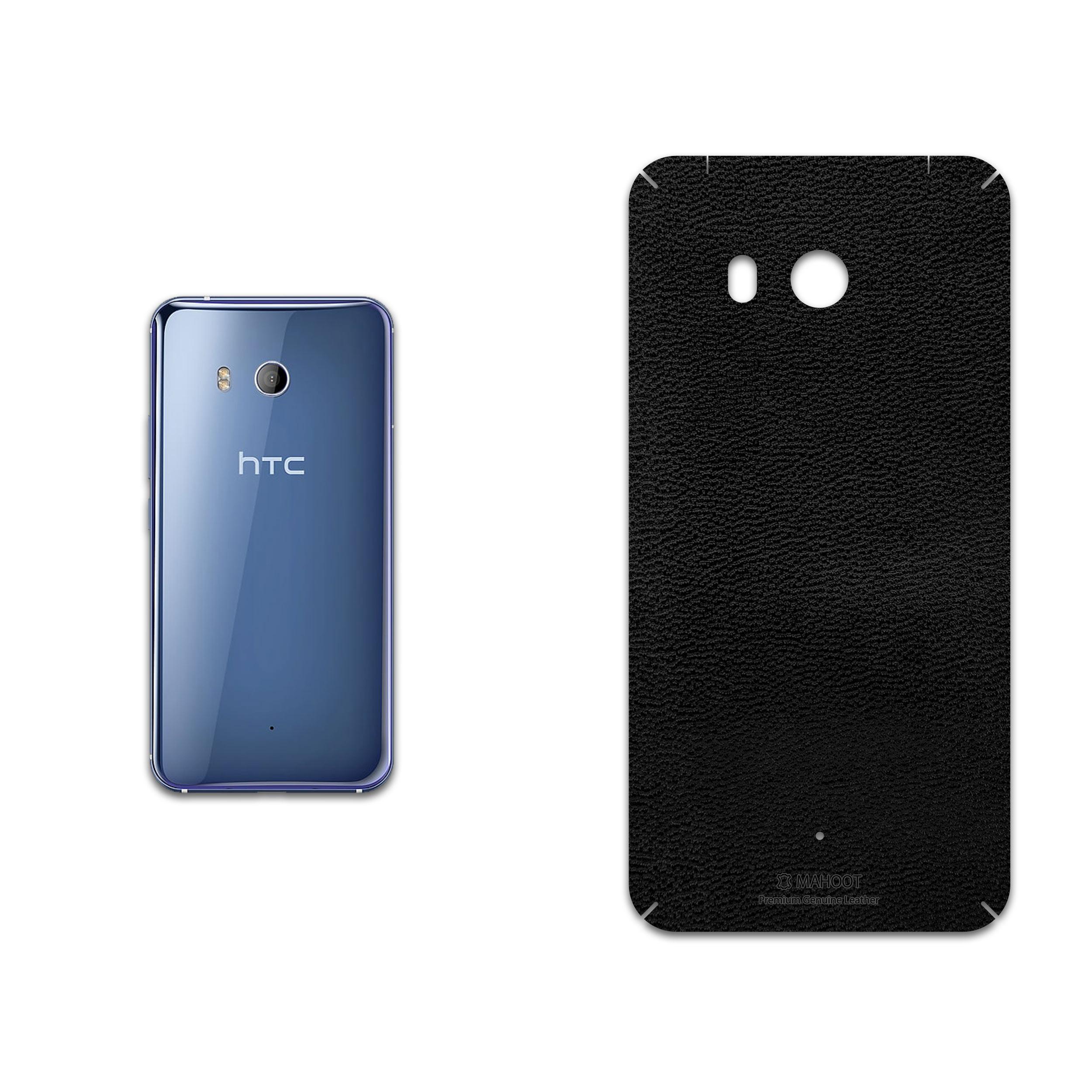 برچسب پوششی ماهوت مدل Black-Leather مناسب برای گوشی موبایل اچ تی سی U11