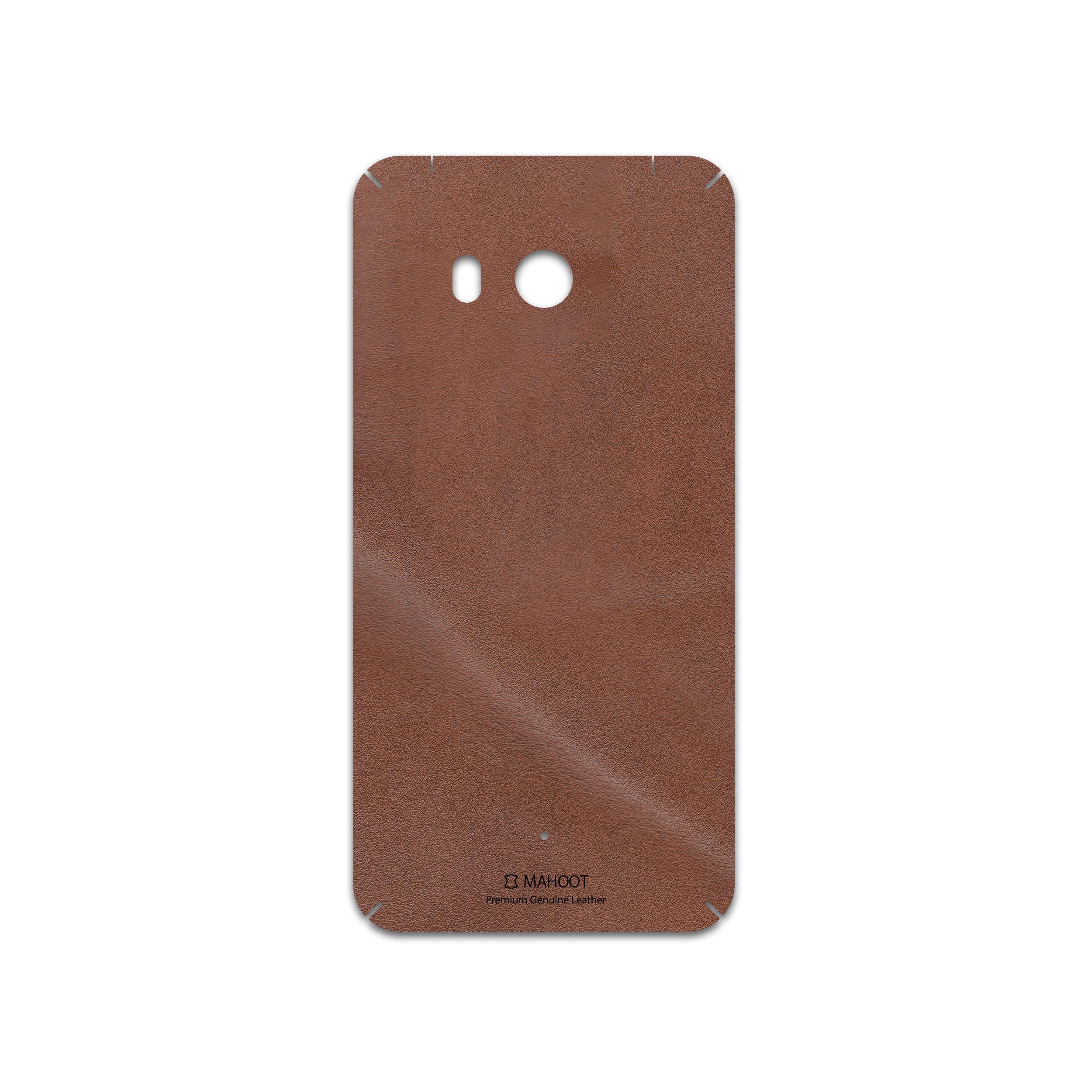 برچسب پوششی ماهوت مدل Matte-Natural-Leather مناسب برای گوشی موبایل اچ تی سی U11