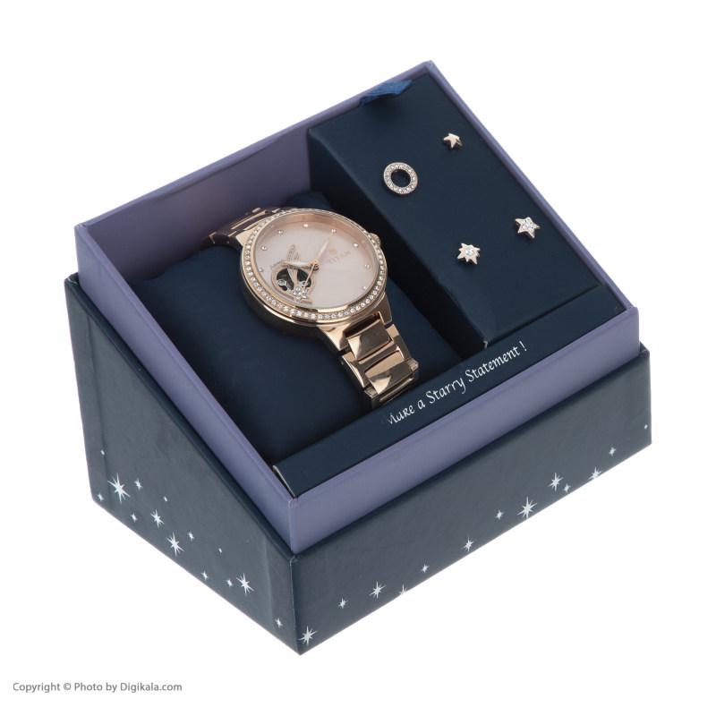 ست گوشواره و ساعت مچی عقربه ای زنانه تایتن مدل T95084WM01