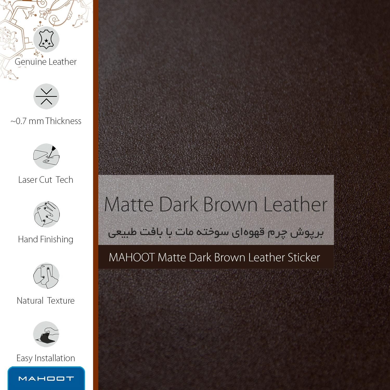 برچسب پوششی ماهوت مدل Matte-Dark-Brown-Leather مناسب برای گوشی موبایل اچ تی سی U11