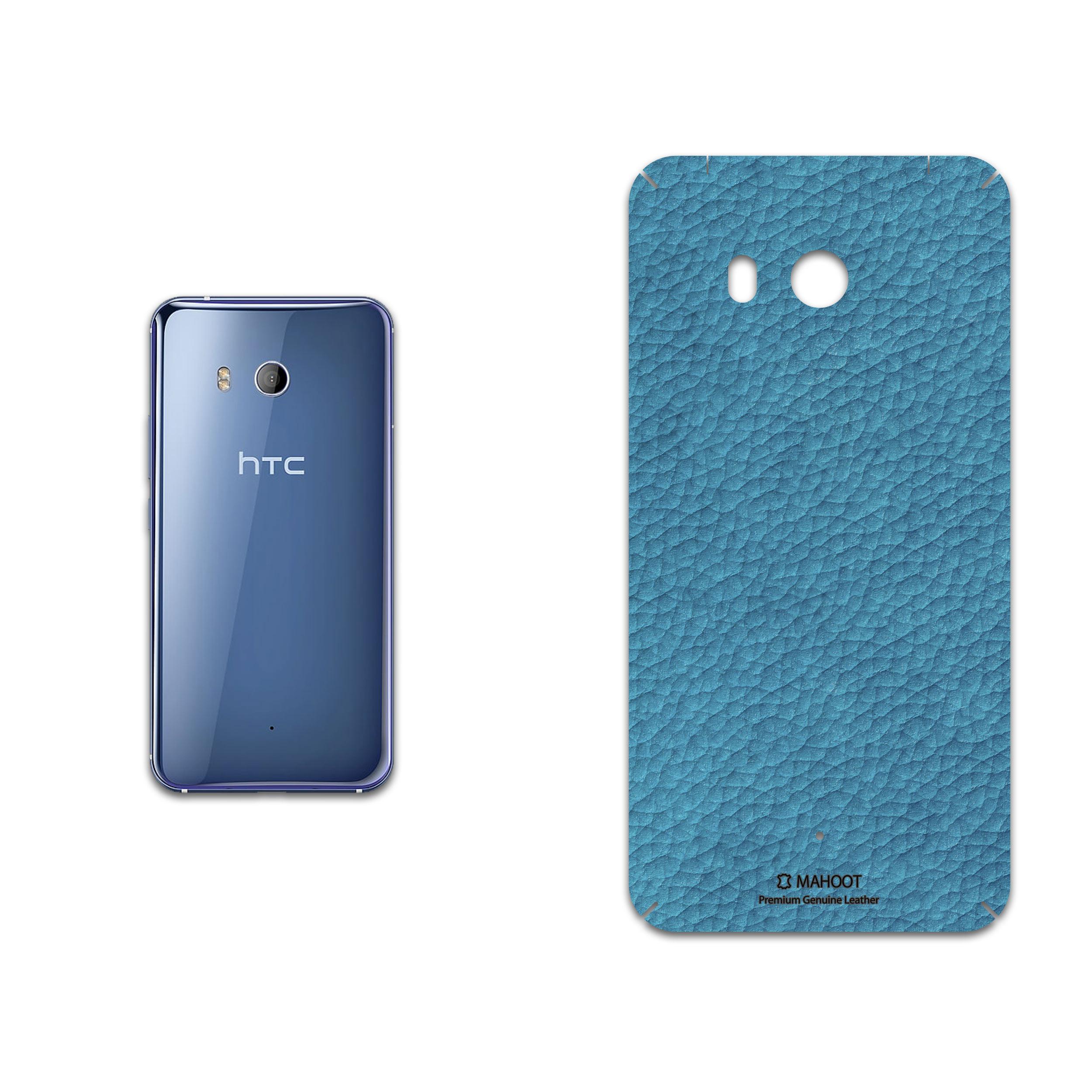 برچسب پوششی ماهوت مدل Blue-Leather مناسب برای گوشی موبایل اچ تی سی U11