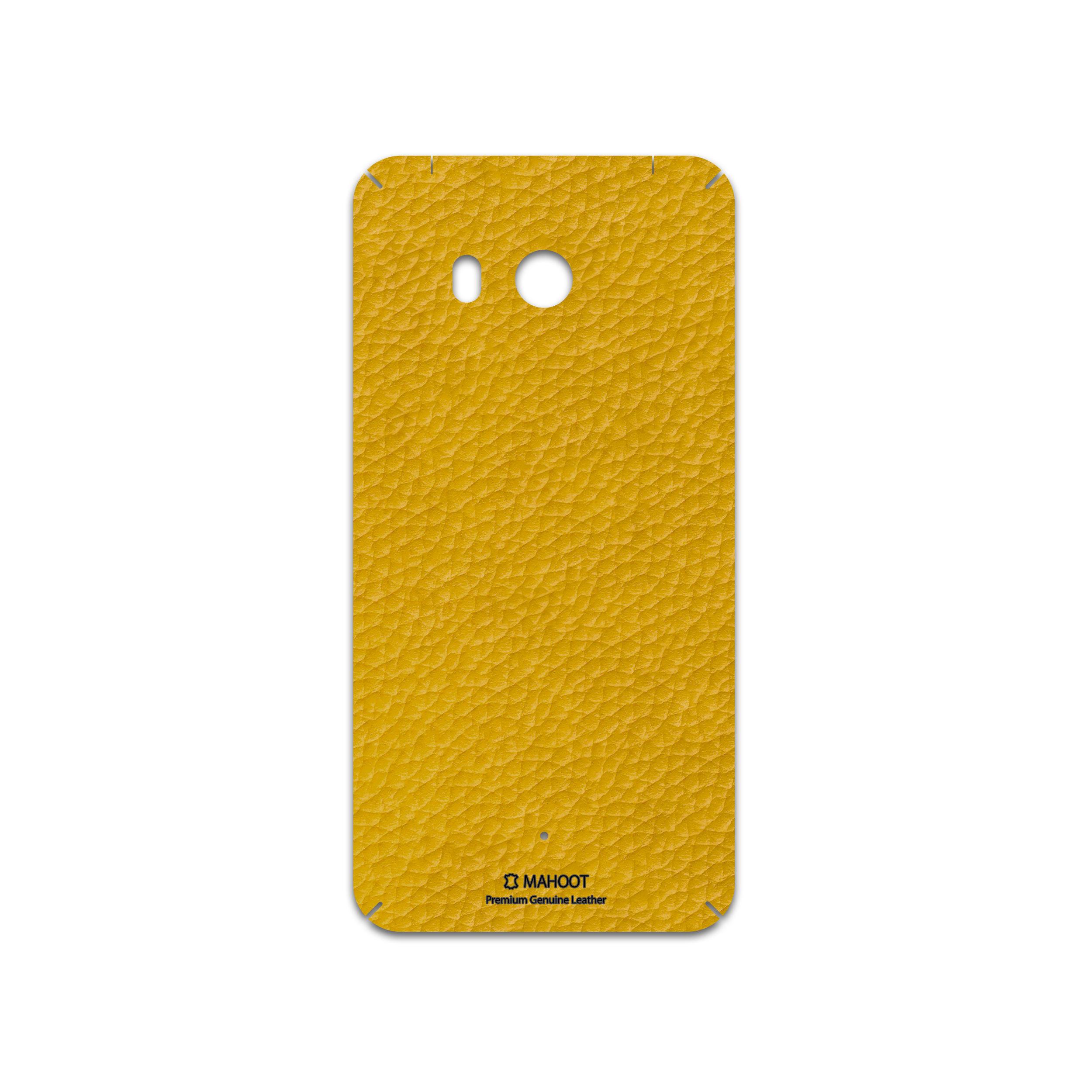 برچسب پوششی ماهوت مدل Mustard-Leather مناسب برای گوشی موبایل اچ تی سی U11