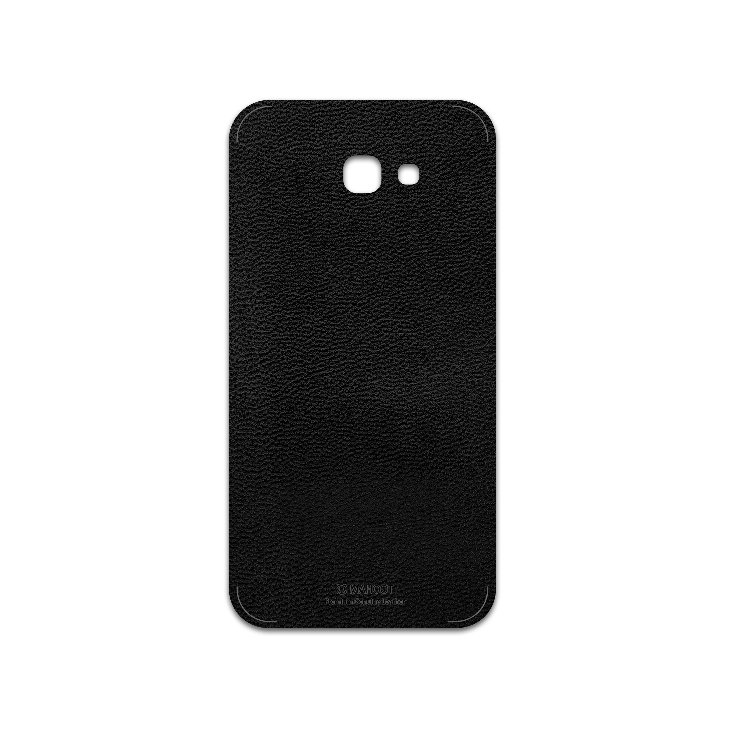 برچسب پوششی ماهوت مدل Black-Leather مناسب برای گوشی موبایل سامسونگ Galaxy A7 2017
