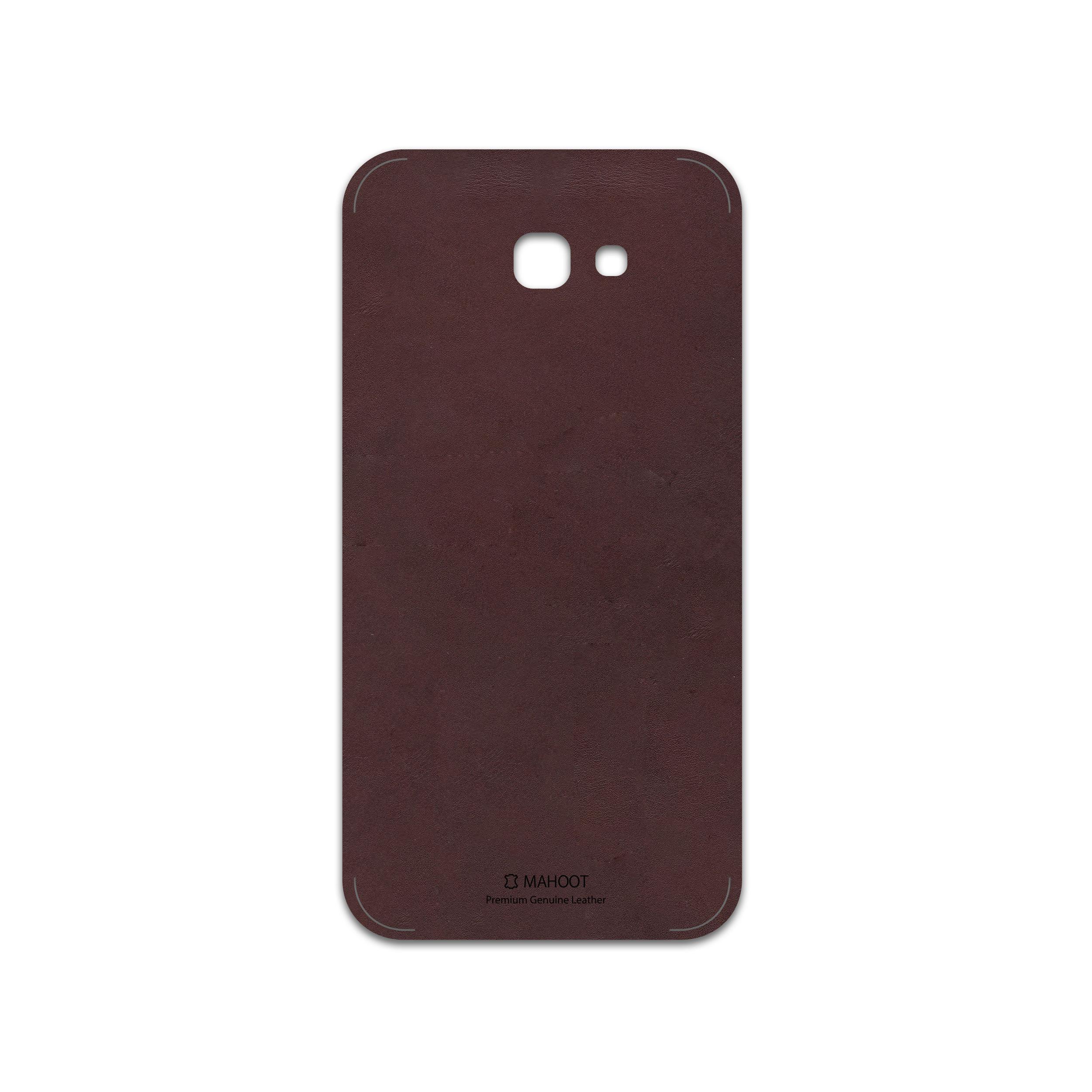 برچسب پوششی ماهوت مدل Matte-Dark-Brown-Leather مناسب برای گوشی موبایل سامسونگ Galaxy A7 2017