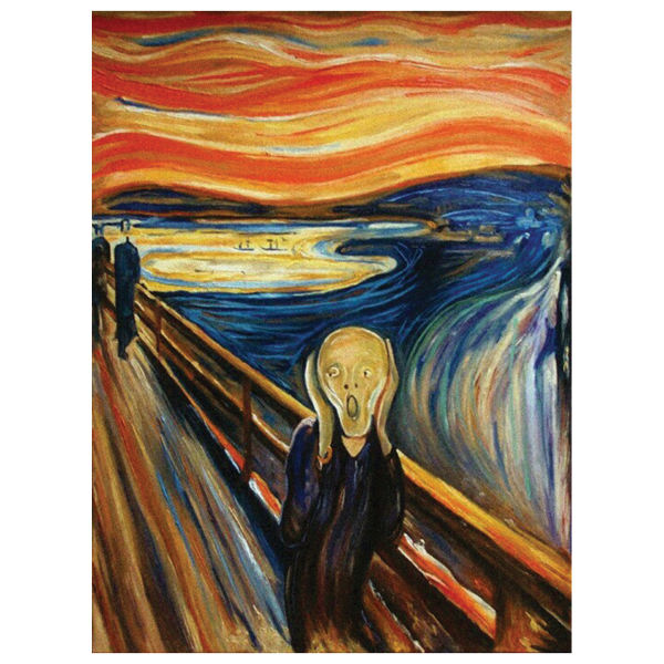 تابلو نقاشی رنگ روغن طرح جیغ کد 1009