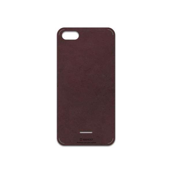 برچسب پوششی ماهوت مدل Matte-Dark-Brown-Leather مناسب برای گوشی موبایل شیائومی Redmi 6A