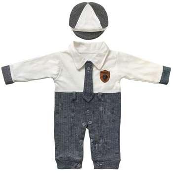 ست کلاه و سرهمی نوزاد مدل شازده کد 01