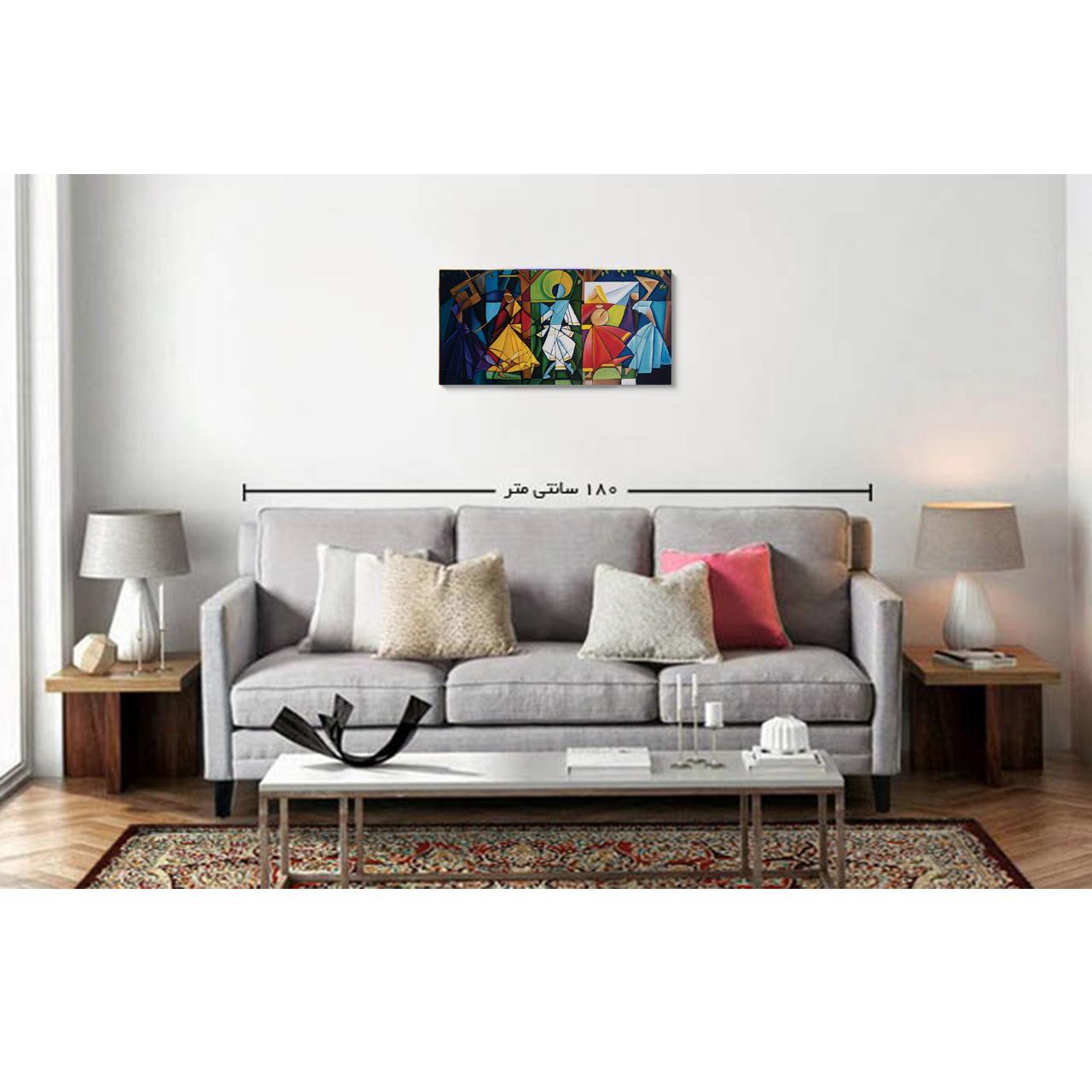 خرید                      تابلو نقاشی رنگ روغن طرح سماع کد 1086