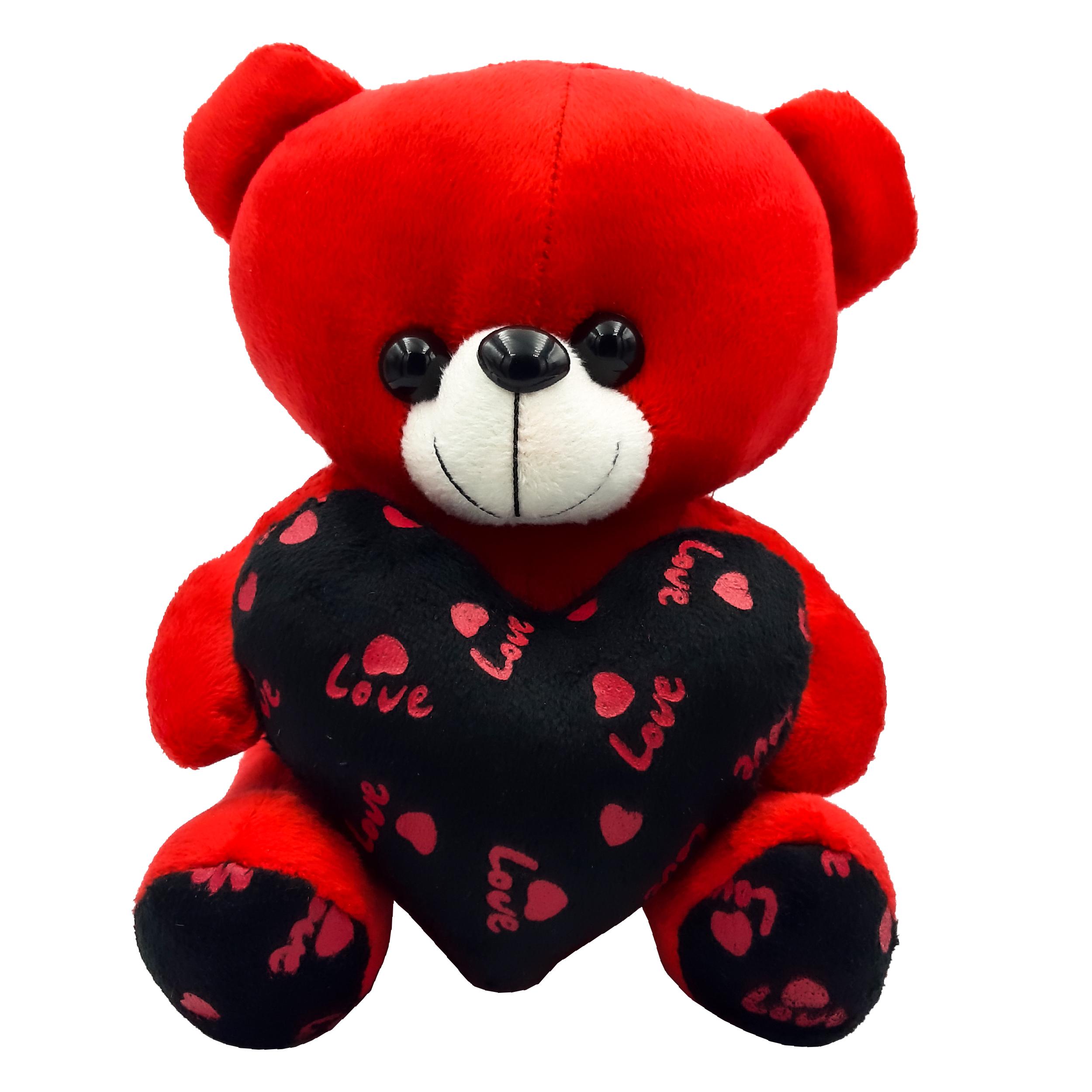 عروسک طرح خرس قلب بدست کد 98 ارتفاع 20 سانتی متر