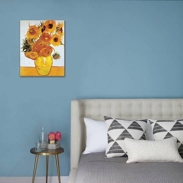 خرید                      تابلو نقاشی طرح گل های آفتابگردان ونگوگ کد 1023