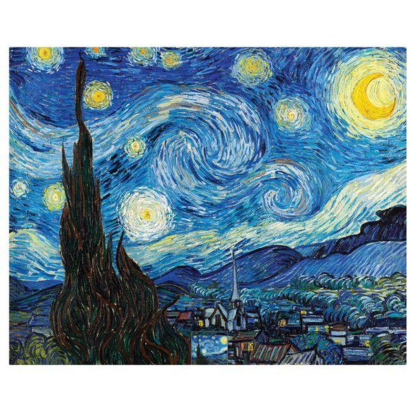 تابلو نقاشی طرح شبپرستاره ونگوگ کد 1058