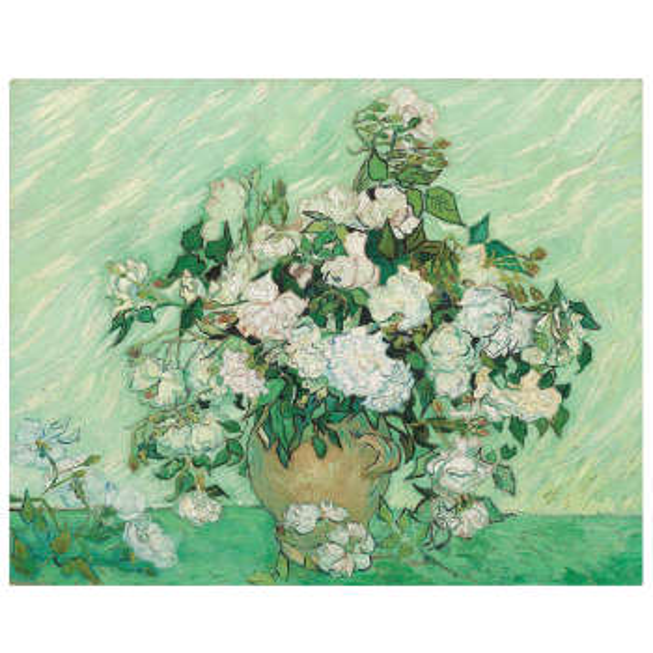تابلو نقاشی طرح دسته گل رز ونگوگ کد 1036