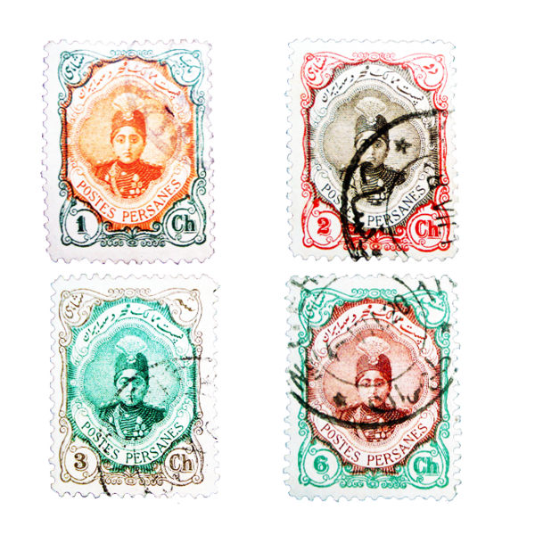تمبر یادگاری طرح قاجار مدل احمدی کد AHS4-522 مجموعه 4 عددی