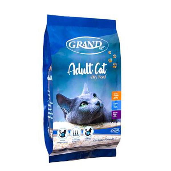 غذای خشک گربه گرند پت مدل adult وزن 2 کیلوگرم
