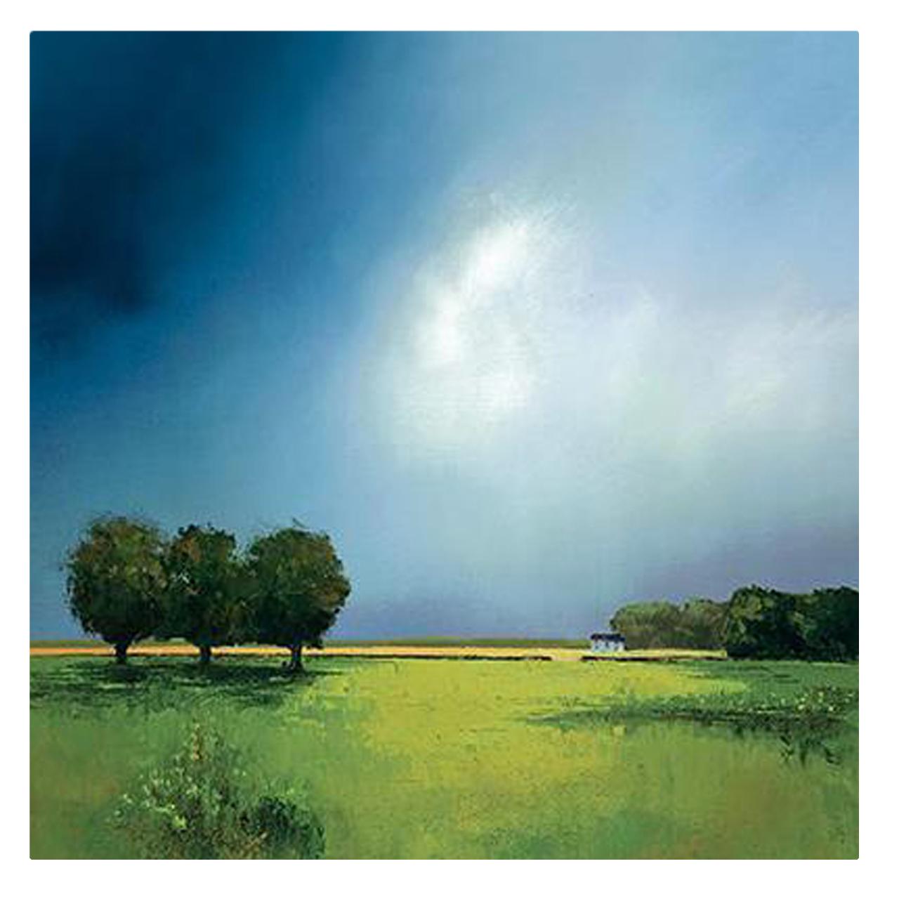 تابلو نقاشی رنگ روغن طرح منظره ابری کد 1100