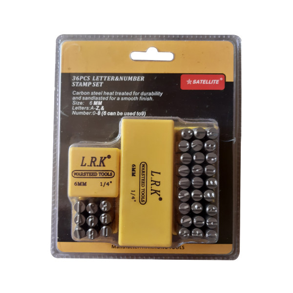 مجموعه 2 عددی سنبه عدد و حروف ساتلایت مدل LRK6