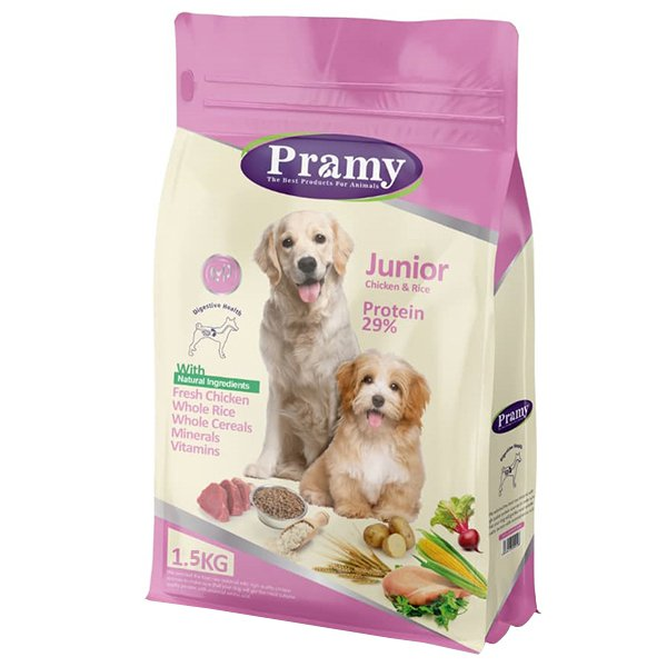 غذای خشک سگ پرامی مدل Junior وزن 1.5 کیلوگرم