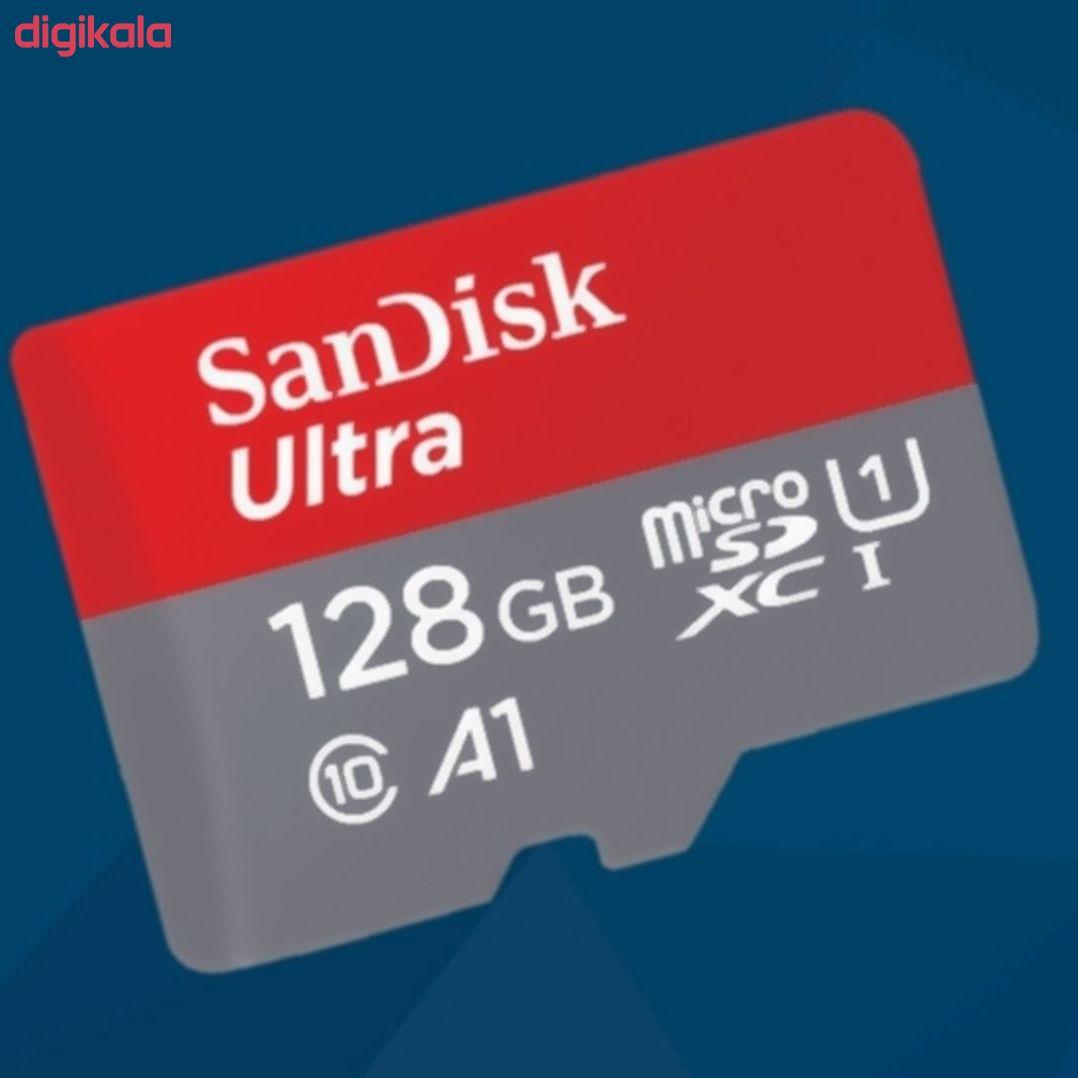 کارت حافظه microSDXC سن دیسک مدل Ultra A1 کلاس 10 استاندارد UHS-I U1  سرعت 100MBps ظرفیت 128 گیگابایت  main 1 4