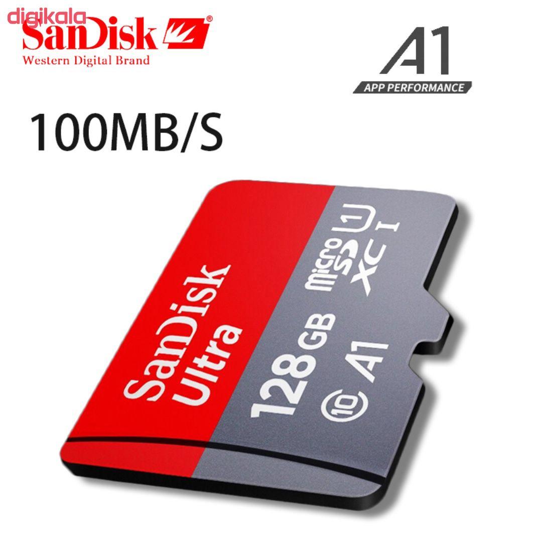 کارت حافظه microSDXC سن دیسک مدل Ultra A1 کلاس 10 استاندارد UHS-I U1  سرعت 100MBps ظرفیت 128 گیگابایت  main 1 6