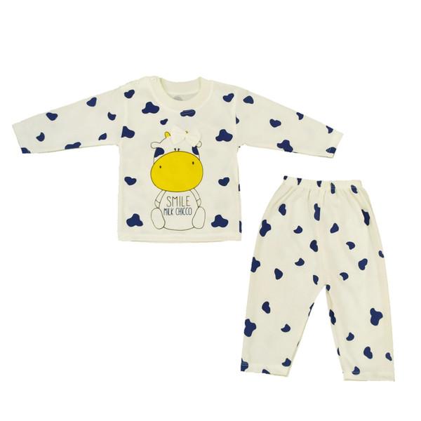 ست تی شرت و شلوار نوزادی کد N25