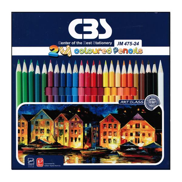 مداد رنگی 24 رنگ سی بی اس مدل jm475-24
