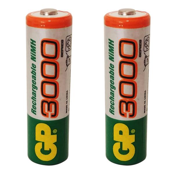 باتری قلمی قابل شارژ جی پی مدل 3000 بسته 2 عددی