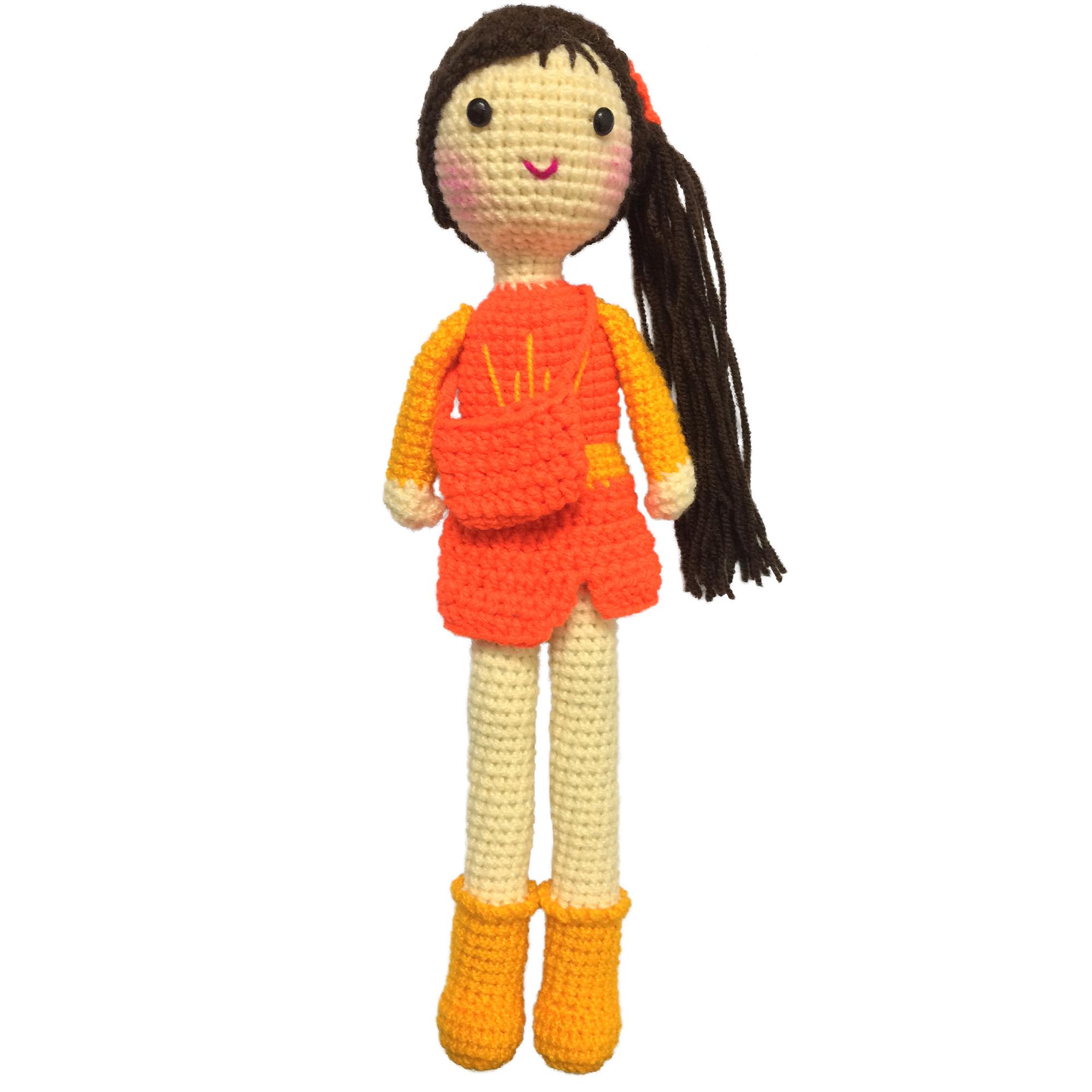خرید                      عروسک بافتنی مدل دختر کد 15