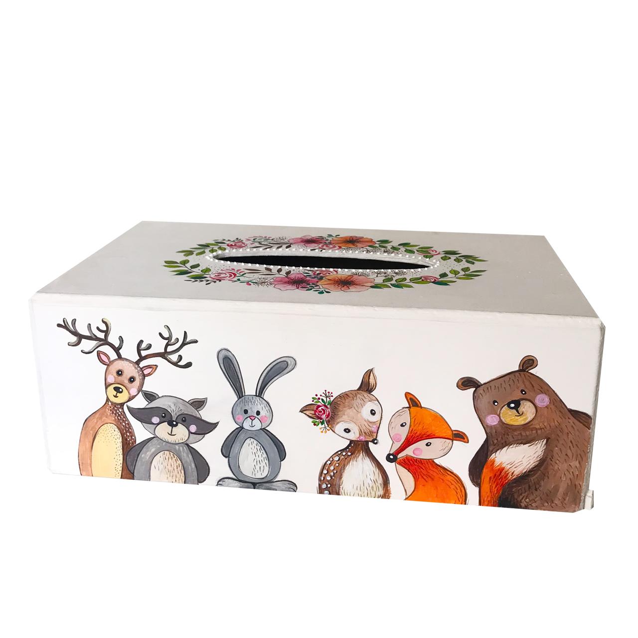 جعبه دستمال کاغذی طرح نقاشی کودک کد 2028