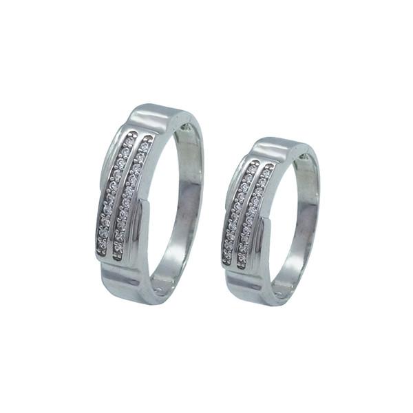 ست انگشتر نقره زنانه و مردانه کد TSVR0012