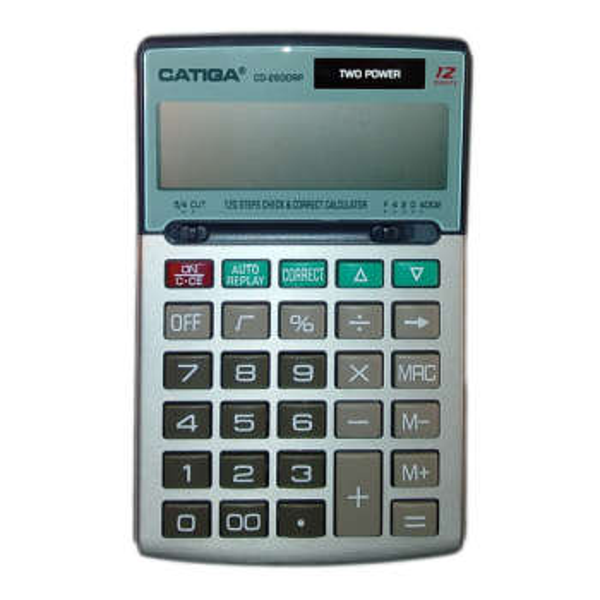 تصویر ماشین حساب کاتیگا مدل CD-2600RP