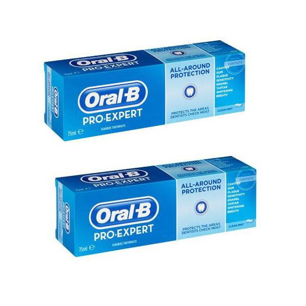 خمیر دندان اورال-بی سری ProExpert مدل all-around protection حجم 75 میلی لیتر مجموعه 2 عددی