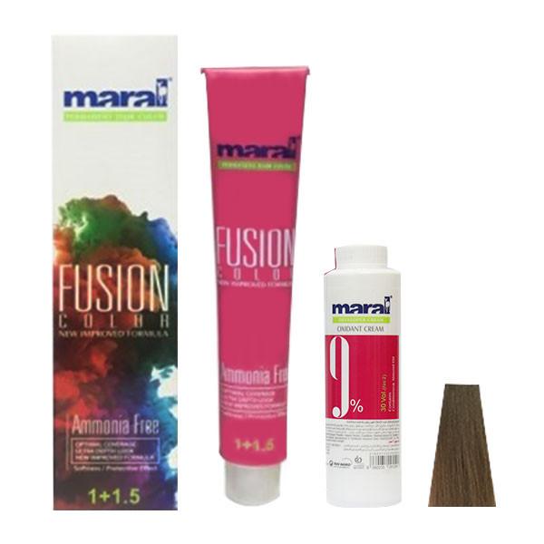 کیت رنگ مو مارال مدل Fusion شماره 7.00 حجم 100 میلی لیتر رنگ قهوه ای بلوند متوسط اکسترا